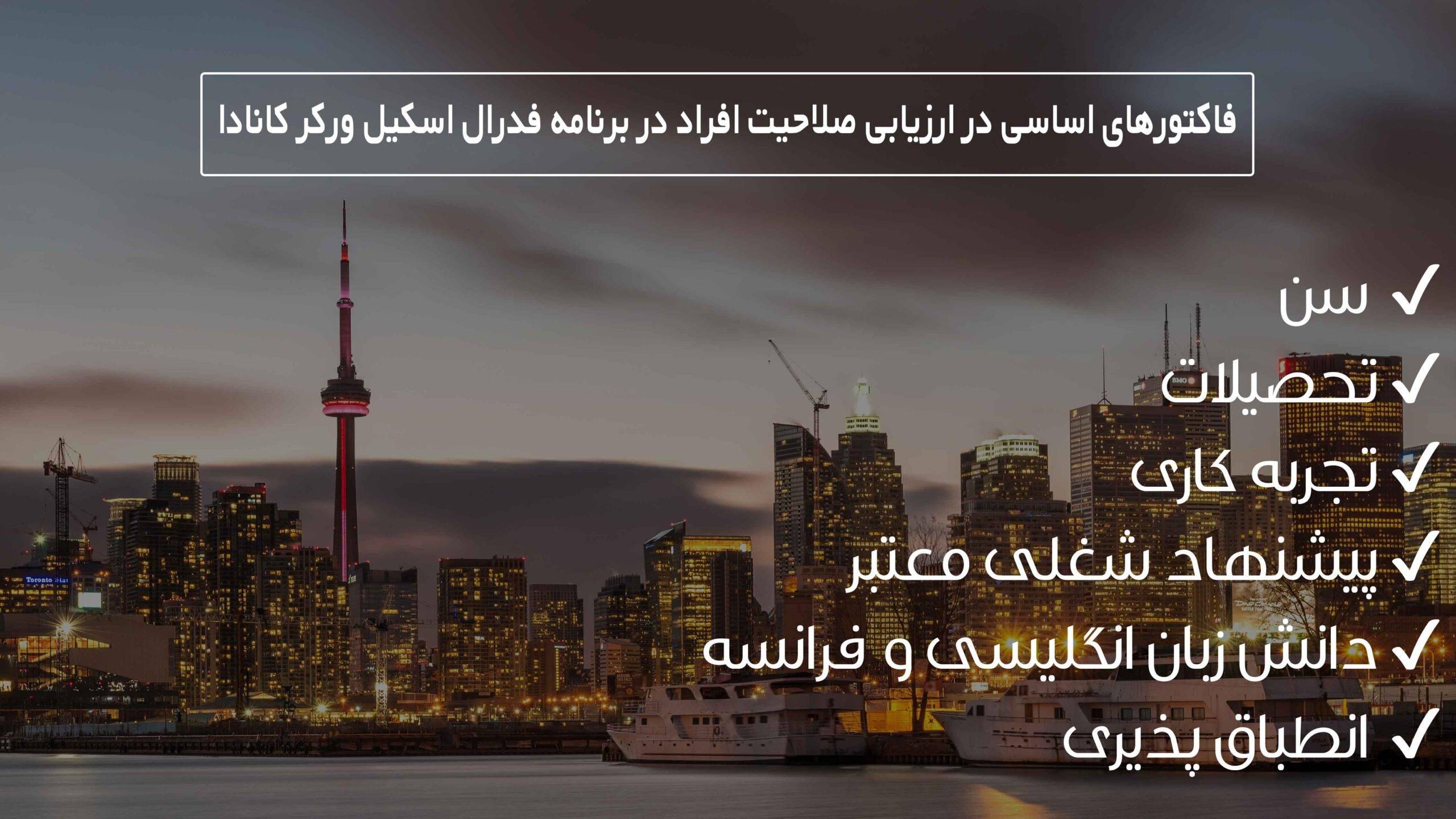 فاکتورهای اساسی در ارزیابی صلاحیت افراد در برنامه فدرال اسکیل ورکر کانادا